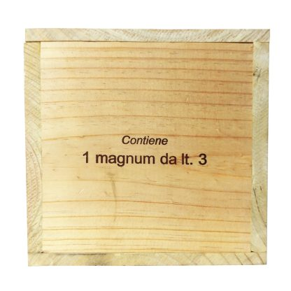 Sassicaia Doppia Magnum cassa in legno sigillata