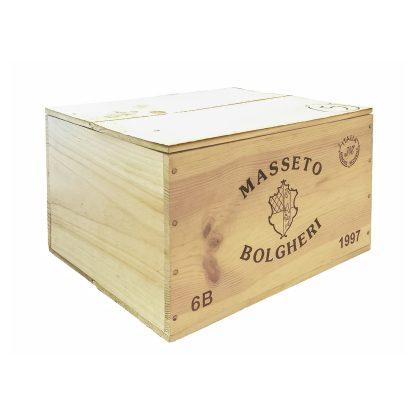 Masseto Toscana IGT 1997 cassa in legno sigillata 6 bottiglie