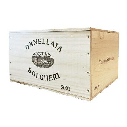 Ornellaia Bolgheri Superiore 2001 cassa in legno sigillata 6 bottiglie