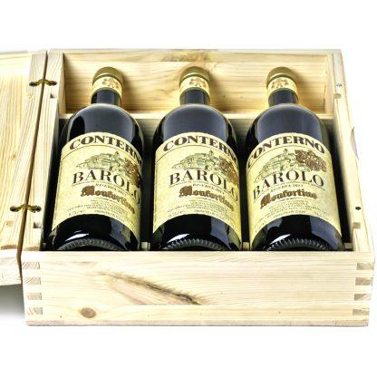 Conterno Barolo Monfortino cassetta da 3 bottiglie