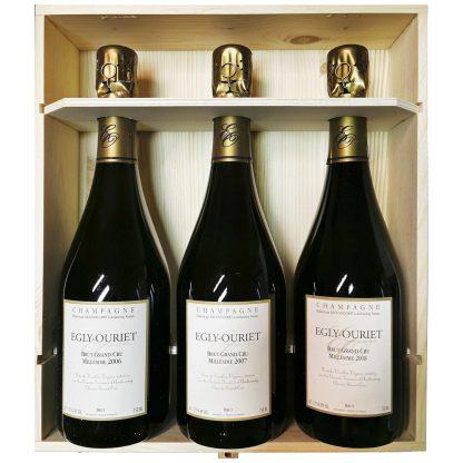 Egly Ouriet Champagne Brut Grand Cru Verticale 2008 2007 2006