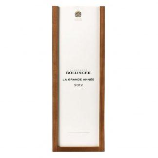 Bollinger Champagne La Grande Année 2012 cofanetto
