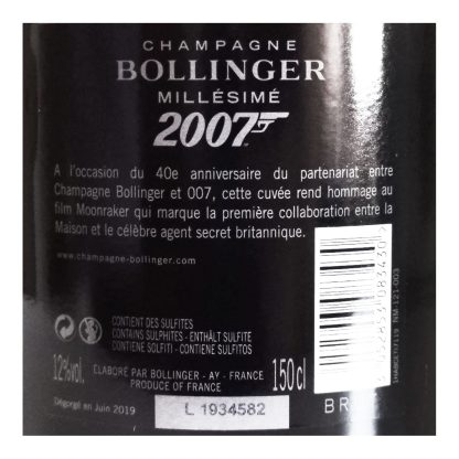 Bollinger Champagne Moonraker Luxury Limited Edition 2007 Magnum
