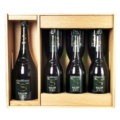 Salon Champagne Brut Blanc de Blancs Le Mesnil Set Verticale 2008, 2007, 2006, 2004
