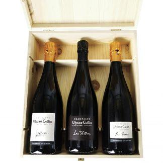 Ulysse Collin Champagne Les Pierriéres, Les Maillons, Les Roises Vieilles Vignes Champagne cassa in legno