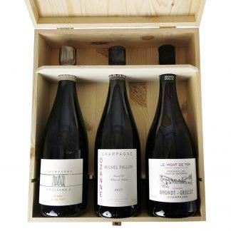 Michel Fallon Ozanne, Guillaume Selosse Au-dessus du Gros Mont, Dhondt-Grellet Le Mont de Fer Champagne cassa in legno